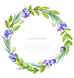Watercolor floral invitation card vector image vector image