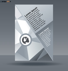 Abstract print A4 design with triangles for flyers vector image