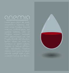 anemia design concept drop of blood vector image