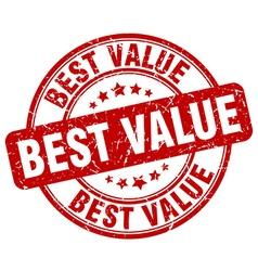 best value red grunge round vintage rubber stamp vector image