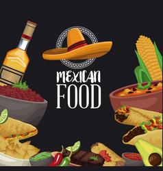 mexican food brochure vector image