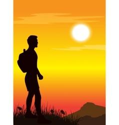 tramper walking vector image vector image
