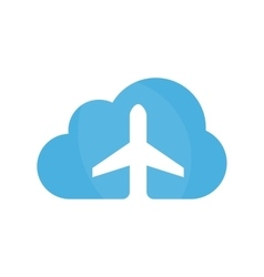 airplane and cloud logo design template vector image vector image