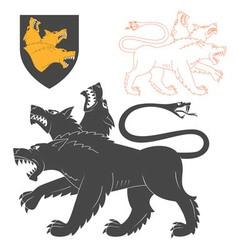 Black cerberus vector