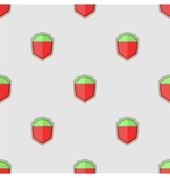 Colored Shield Seamless Pattern vector image