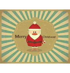 Santa Claus on grunge background vector image vector image