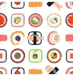 Japanese food sushi seamless pattern vector image