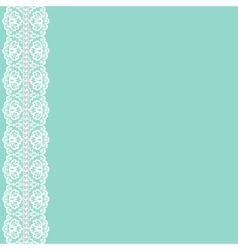 lace ribbon and pearls vector image vector image
