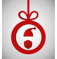 Merry christmas graphic vector image