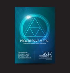 progressive metal music festival sound poster vector image
