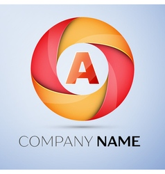 A letter colorful logo in the circle template for vector