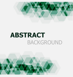 abstract dark green hexagon overlapping background vector image