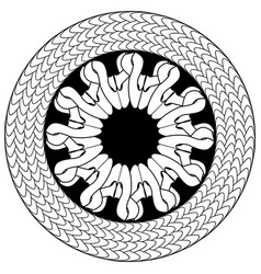 abstract flower in knotted circle in celtic style vector image