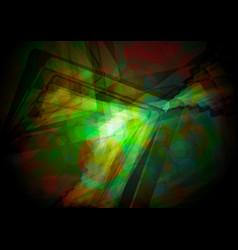 abstract green shiny vector image