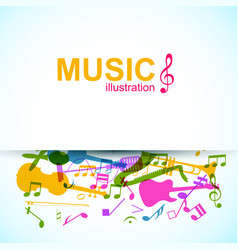 Abstract music template vector