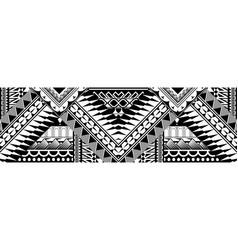 Abstract polynesian art tattoo border vector