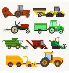 Agricultural vehicles harvester machine vector