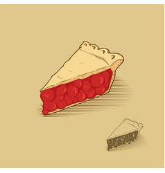 american cherry pie vector image