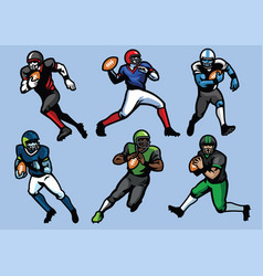 American football player set vector