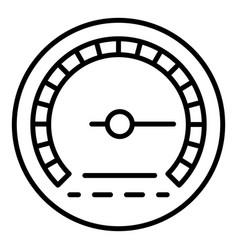 American speedometer icon outline style vector
