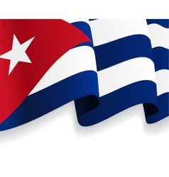 Background with waving Cuban Flag vector