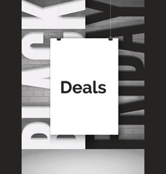 black friday shopping deals realistic vector image