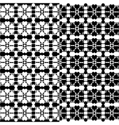 Black lace texture on white seamless pattern vector image