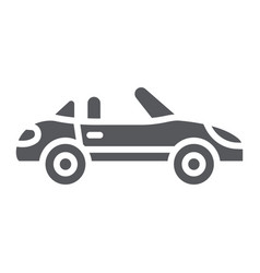 cabriolet glyph icon transport and drive vector image