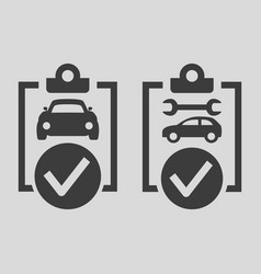 car list icons on grey background vector image