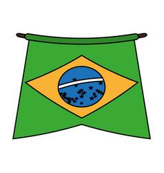 carnival brazil flat vector image