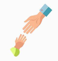 Charity symbol helping hand icon vector