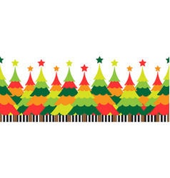 Christmas tree with colorful background vector