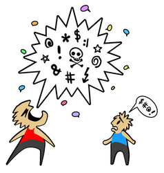 Conversation swearing vector