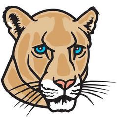 Cougar head logo mascot vector