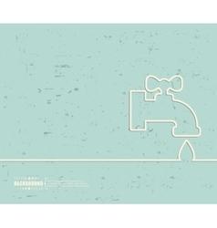 Creative faucet Art template vector