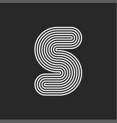 creative letter s logo initial monogram original vector image