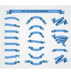 Design elements Set of Blue ribbons or vector image