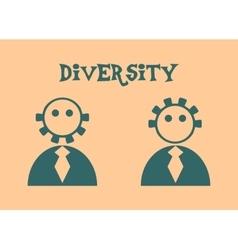Diversity between humans metaphor vector
