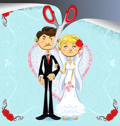 Divorce vector image