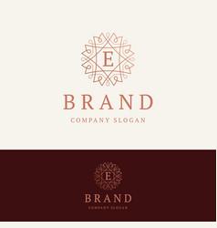e brand logo vector image