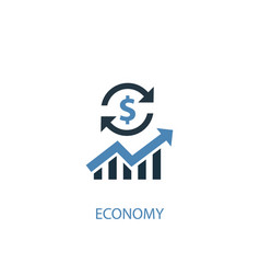 economy concept 2 colored icon simple blue vector image