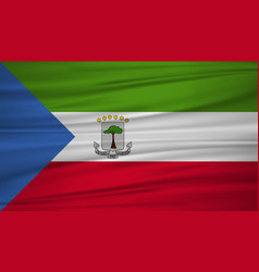 equatorial guinea flag flag of equatorial guinea vector image