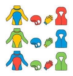 equipment for kayaking vector image
