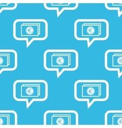 Euro bill message pattern vector
