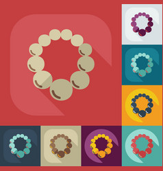 Flat modern design with shadow icon necklace vector