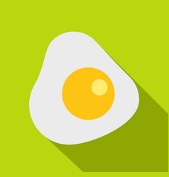 Fried egg icon flat style vector