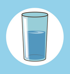 Glass water fresh health vector