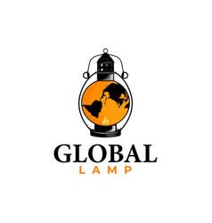 global lamp logo vector image