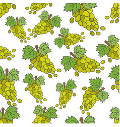 grape flat seamless pattern on white vector image