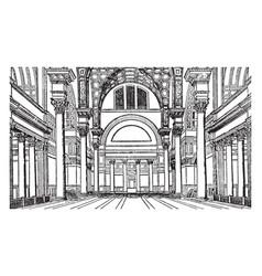 Hall in baths of caracalla marcus aurelius vector